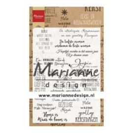CS1008 Marianne Design clear stamps kerst- en nieuwjaarswensen