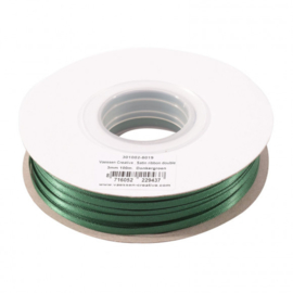 301002-5019 Vaessen Creative • Satijnlint dubbel 3 mm 100m Donkergroen