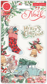 CCSTMP045 Craft Consortium Noel Clear Stamps Festivity