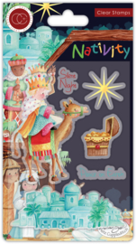 CCSTMP049 Craft Consortium Nativity Clear Stamps Bethlehem