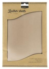 FLSSL01 Fake Leather Sheets - Light Brown