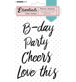 SL-PES-STAMP08 Clear Stamp Text Party Planner Essentials