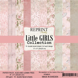 RPM005 Reprint Collection 8x8 Inch Paper Pack  Little Girls