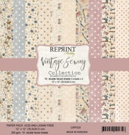 CRP030 Reprint 12x12 Inch Paper Pack Sewing