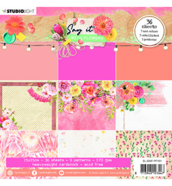 SL-SWF-PP161 - SL Paper pad Pattern Paper Say it with flowers