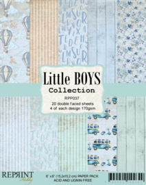 RPP037 Reprint  Collection 6x6 Inch Paper Pack Little Boys