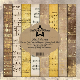 PF104 Paper Favourites Music 6x6 Inch Paper Pack