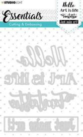 STENCILSL266 Studio Light Embossing Die Cut Essentials