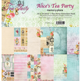 MP-60315 Memory Place Alice's Tea Party 12x12 Inch Paper Pack