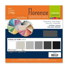 2923-108 Florence • Cardstock multipack 15,2x15,2cm Zwart