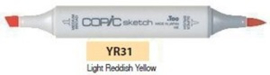 YR31  Copic Sketch Marker Light Reddish Yellow