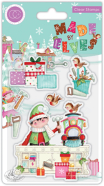 CCSTMP068 Craft Consortium Made by Elves Workshop Clear Stamps