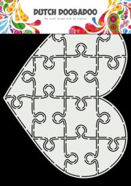 470.713.847 Dutch Doobadoo Card Art Puzzel Hart