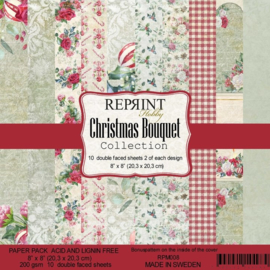 RPM008 Reprint Collection 8x8 Inch Paper Pack Christmas Bouquet