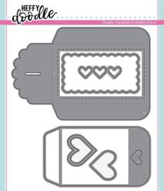 HFD0155 Heffy Doodle Heart Gift Card Pocket Dies
