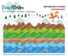 CDSN-0099 Snijmallen Slimline randen 4 bergen & water