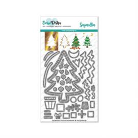 CDSN-0113 Snijmallen Outline kerstboom