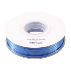 301002-5013 Vaessen Creative • Satijnlint dubbel 3 mm 100m Blauw
