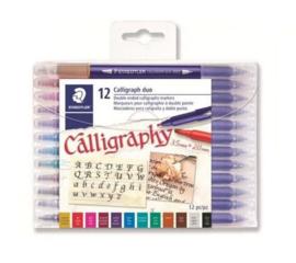 320300/0251 Staedtler Calligraphy duo kalligrafie pen - set 12