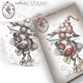 PD7947 Polkadoodles Gnome Let's Go Clear Stamp