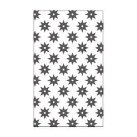 "100604-104 Vaessen Creative embossing folder 3x5"" eight pointed star"