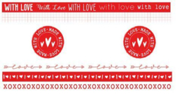 WASHIFWL19 Filled With Love - Washi Tape Red/White nr. 19