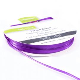 301002-0016 Vaessen Creative satijnlint dubbel 3mm - 10m paars