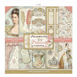 SBBL75 Stamperia 12x12 Inch Flower Paper Pack  Princess