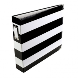 98183 Project life album 30,5x30,5cm black & white stripe