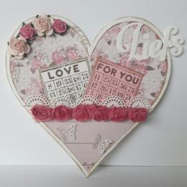 470.713.661 Dutch Doobadoo Card Art Easel Card Heart
