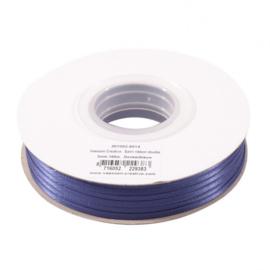 301002-5014 Vaessen Creative • Satijnlint dubbel 3 mm 100m Donkerblauw
