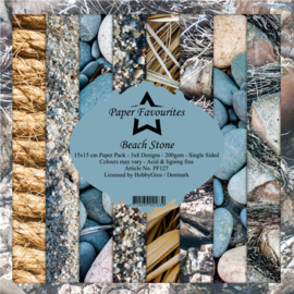 PF127 Paper Favourites Beach Stone 6x6 Inch Paper Pack