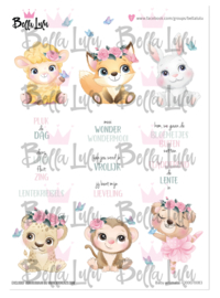 3000/0083 Bella Lulu Knipvel Baby Animals