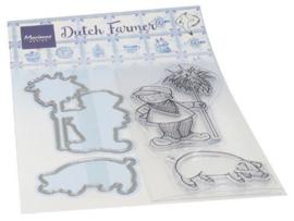 HT1653 Clear Stamp & Die Hetty's Hollandse boer