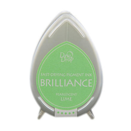 BD-000-042 Dew Drop Brillance Ink Pad Pearlscent Lime