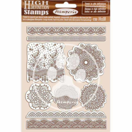 WTKCC196 Stamperia Natural Rubber Stamp Passion Lace