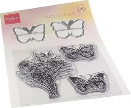 TC0879  Clear Stamp & die set Tiny's Vlinders