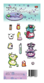 PD7033 Polkadoodles Little Monsters Clear Stamps Freaky