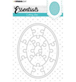 STENCILSL386 Cutting Die Small shape oval puzzle Essentials