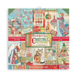 SBBS40 Stamperia Christmas Patchwork 8x8 Inch Paper Pack