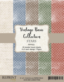 RPP022 Reprint  Collection 6x6 Inch Paper Pack Stars