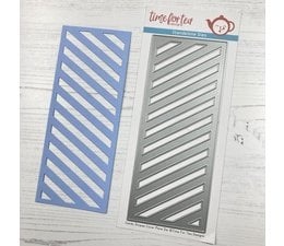 T4T/422/Can/Str Time For Tea Candy Stripes Slimline Die