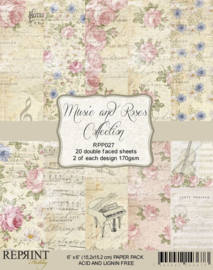 RPP027 Reprint  Collection 6x6 Inch Paper Pack Music & Roses