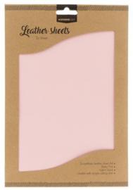 FLSSL05  Fake Leather Sheets - baby roze