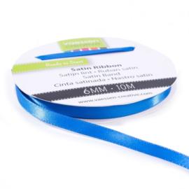 301002-1013 Vaessen Creative satijnlint dubbel 6mm - 10m blauw