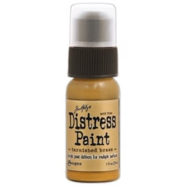 15TDD36487 Tim Holtz distress paint metallic tarnished brass