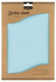 FLSSL08  Fake Leather Sheets - baby blue