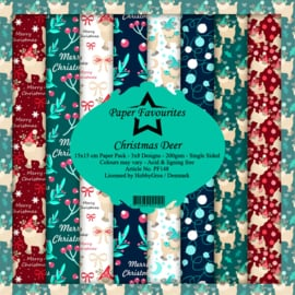 PF148 Paper Favourites Christmas Deer 6x6 Inch Paper Pack