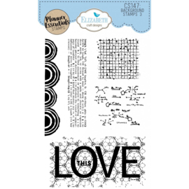 CS147 ECD Clearstamps Background Stamps 3