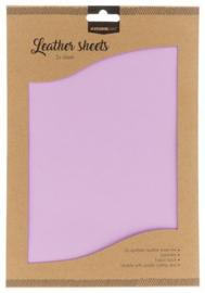 FLSSL06  Fake Leather Sheets - lavendel